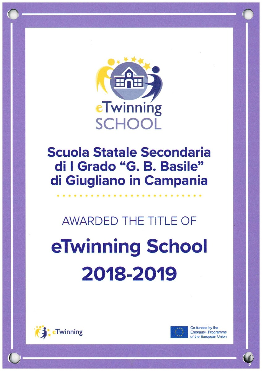 Targa eTwinning School Label 2018- 2019